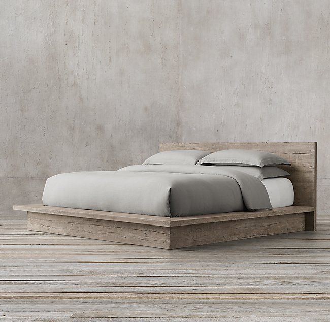 Reclaimed Russian Oak Platform Bed Platform Bedroom