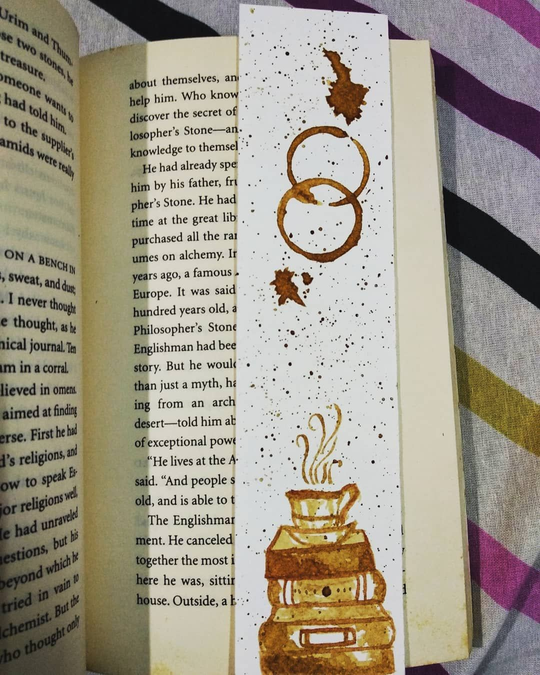 This Bookmark Smells Of Coffee You Can Check If You Want As It S Painted Using Coffee And I Am In Love With This Boo Bookmarks Handmade My Bookmarks Bookmark
