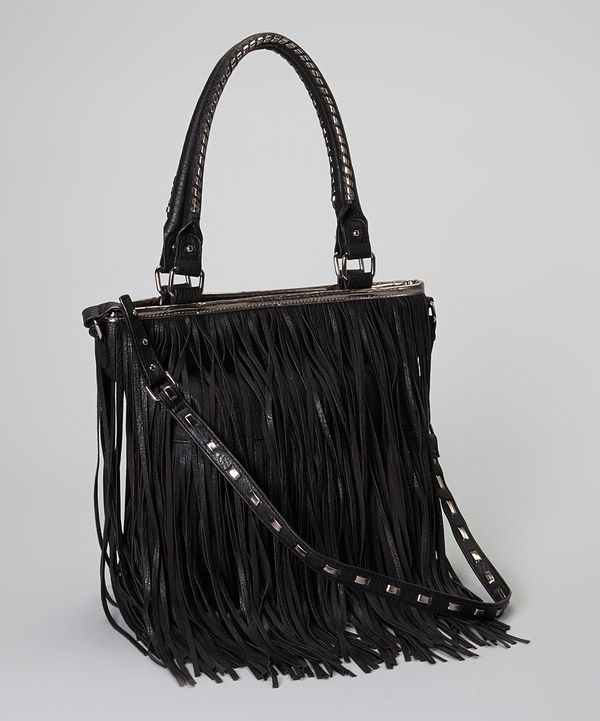 Take a look at this Steve Madden Black Fringi Tote on zulily today!