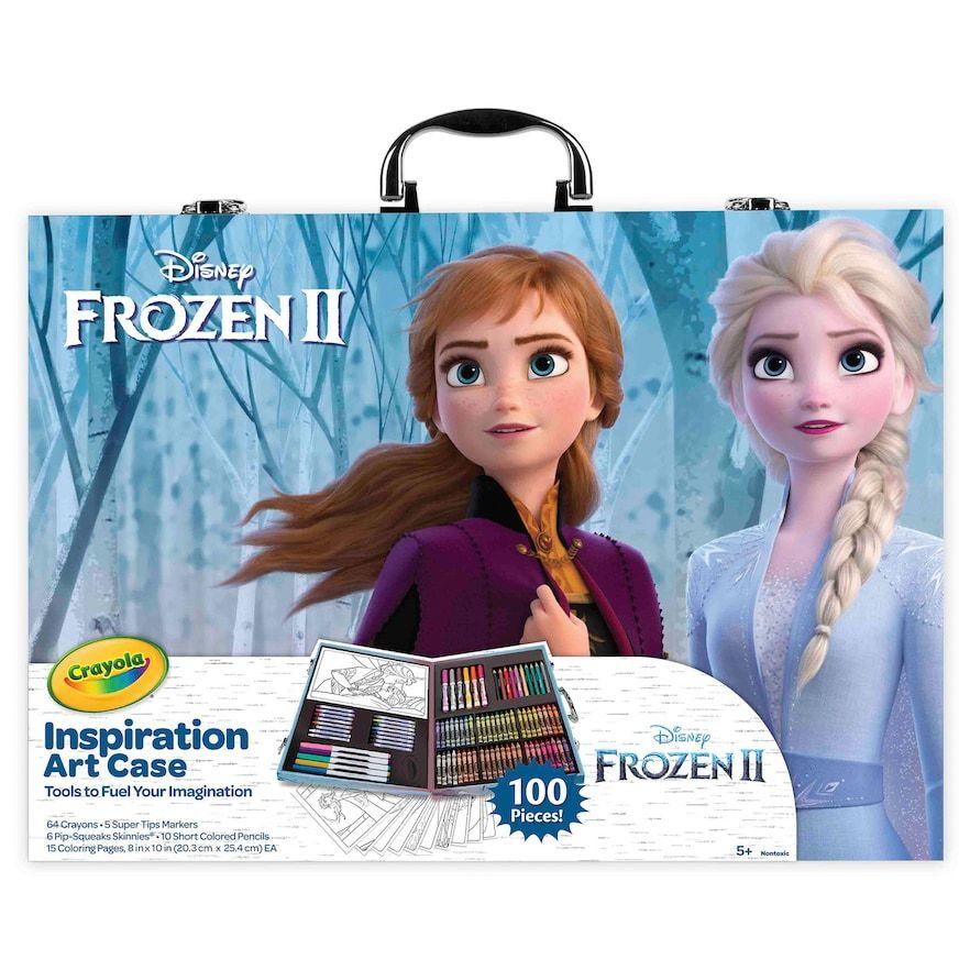 Disney S Frozen 2 Inspiration Art Case By Crayola 100 Art Coloring Supplies Art Case Frozen Art Coloring Supplies