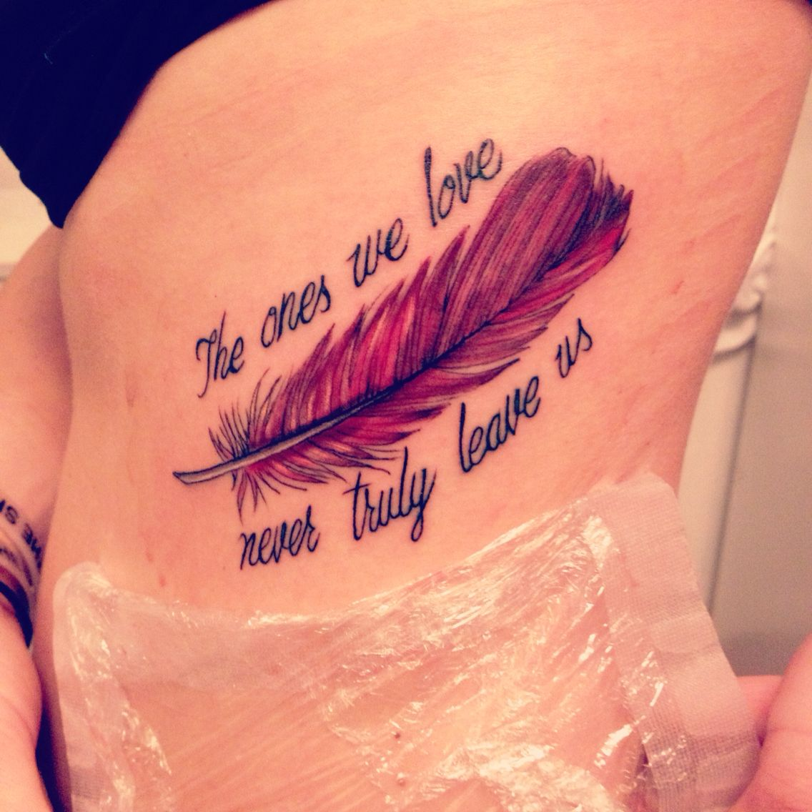 Tattoo In Memory Of A Family Member Feather Tattoos Tattoos For Daughters Remembrance Tattoos