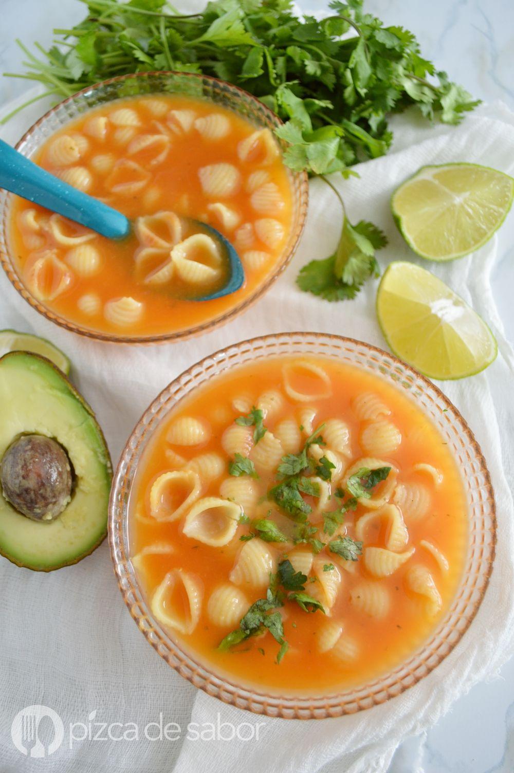 Sopa de conchitas  Receta  Arte culinario  Sopa aguada