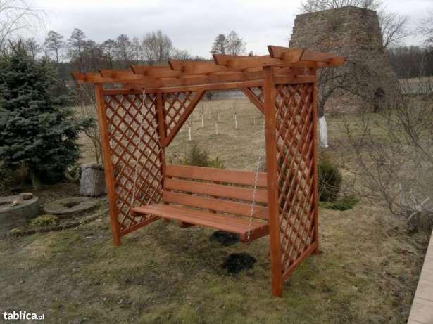 Hustawka Ogrodowa Drewniana Hustawki Ogrodowe Pergole Wyprzedaz Wachock Image 1 Pergola Garden Arch Outdoor Structures