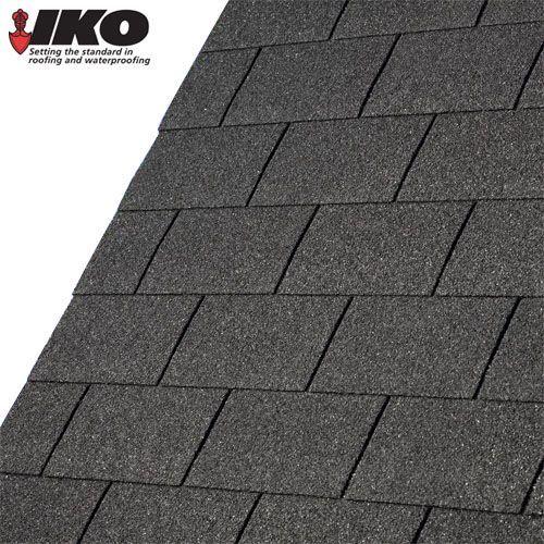 Roofing Felt ShinglesShed Roof Felt TilesIKO FeltSlate Grey Square butt