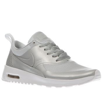 Nike Silver Air Max Thea Se Girls Youth A serious look with some serious  comfort arrives