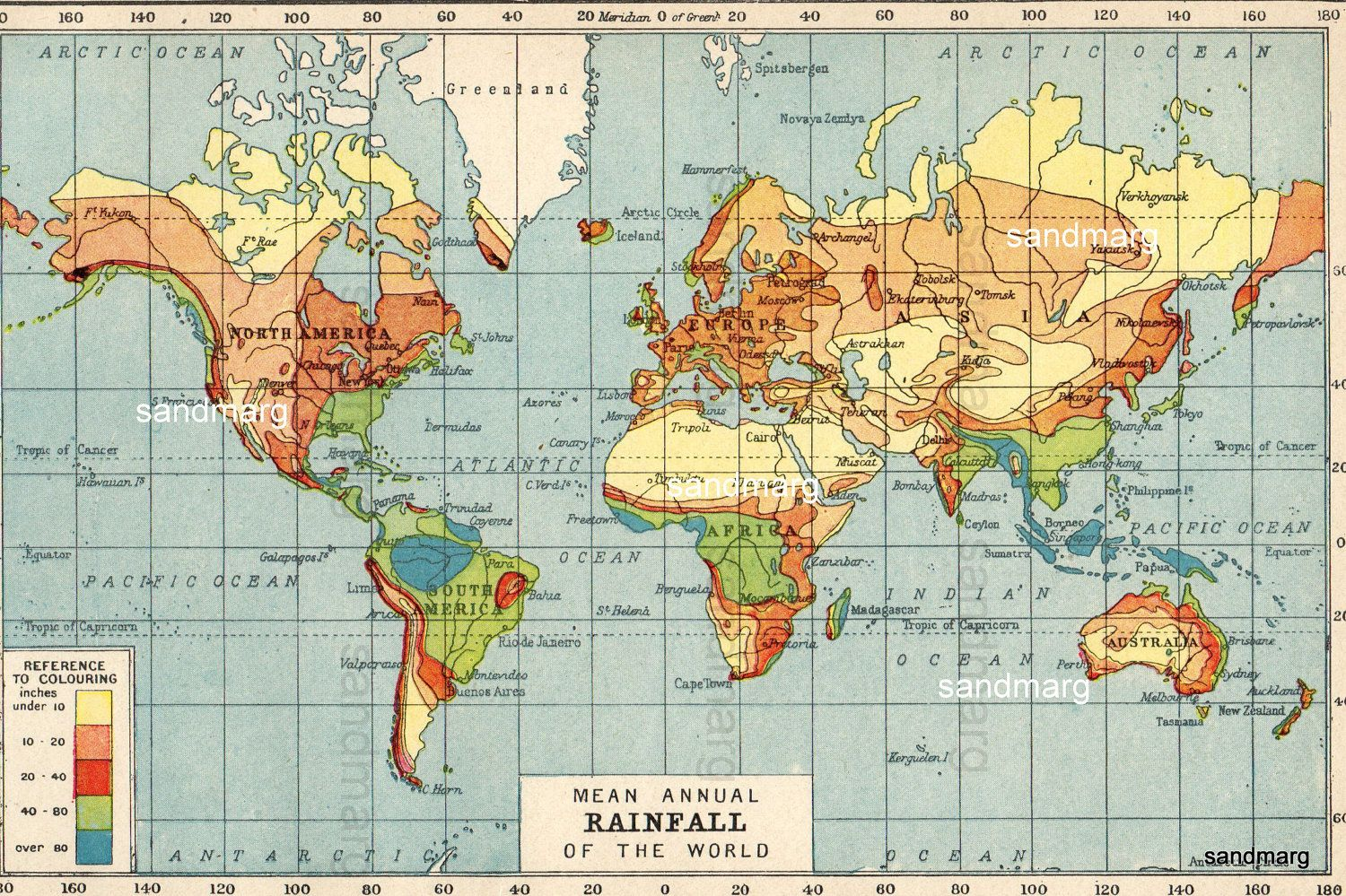 Mean Annual Rainfall Map Of The World Climate Change