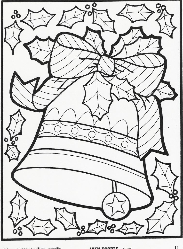 Bells Coloring Page Pinterest Christmas Coloring Pages