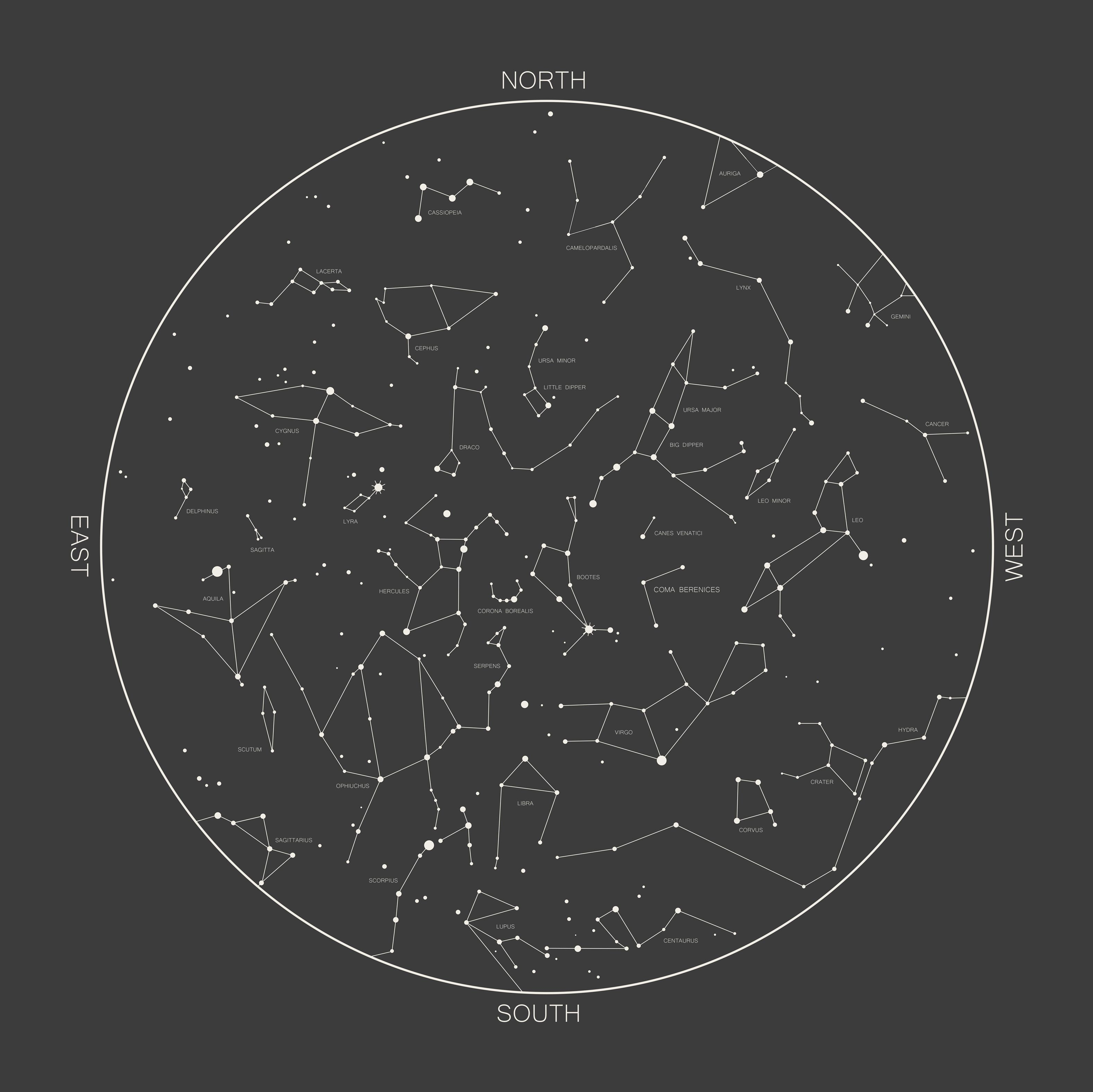 Constellations Map #design #constellations #map #stars #astrology ...