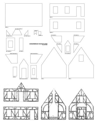 Gingerbread house plans by melissagraf on deviantart for Gingerbread house floor plans