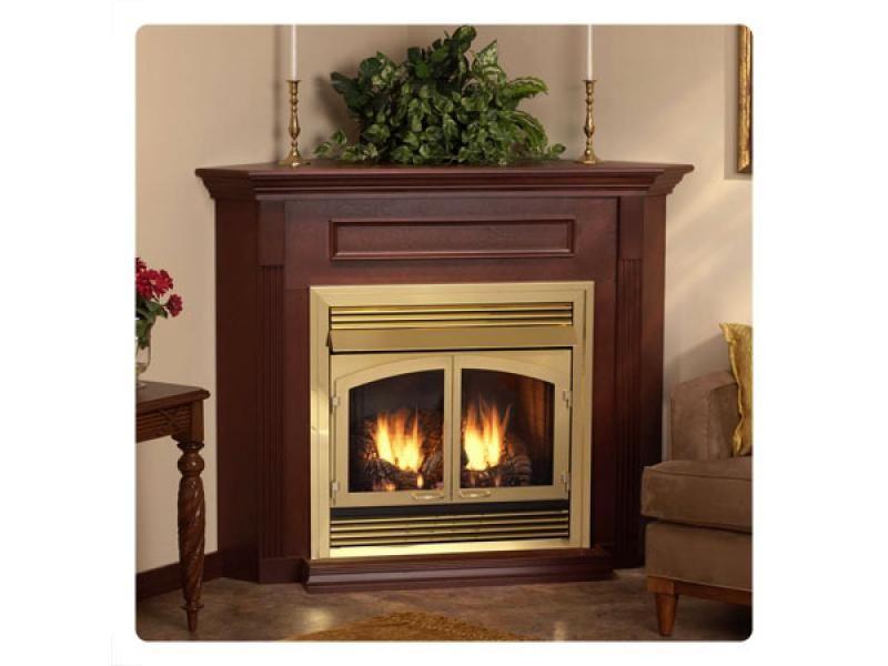 corner gas fireplace bricks package factory direct fireplaces - Ventless Gas Fireplaces
