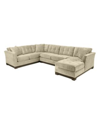 Elliot Fabric Microfiber 3-Piece Chaise Sectional Sofa: Custom Colors