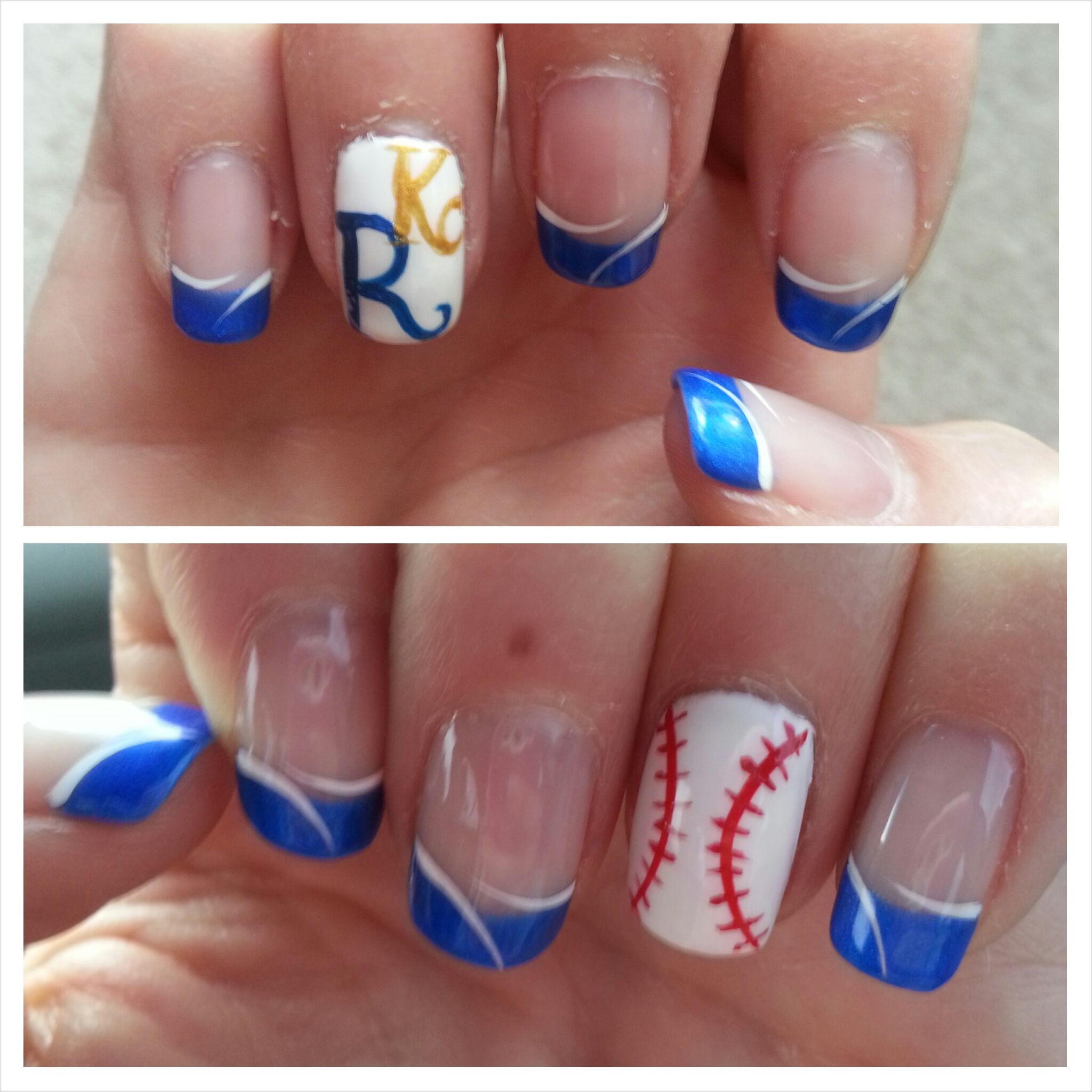 Kc Royals Nail Art | Best Nail Designs 2018