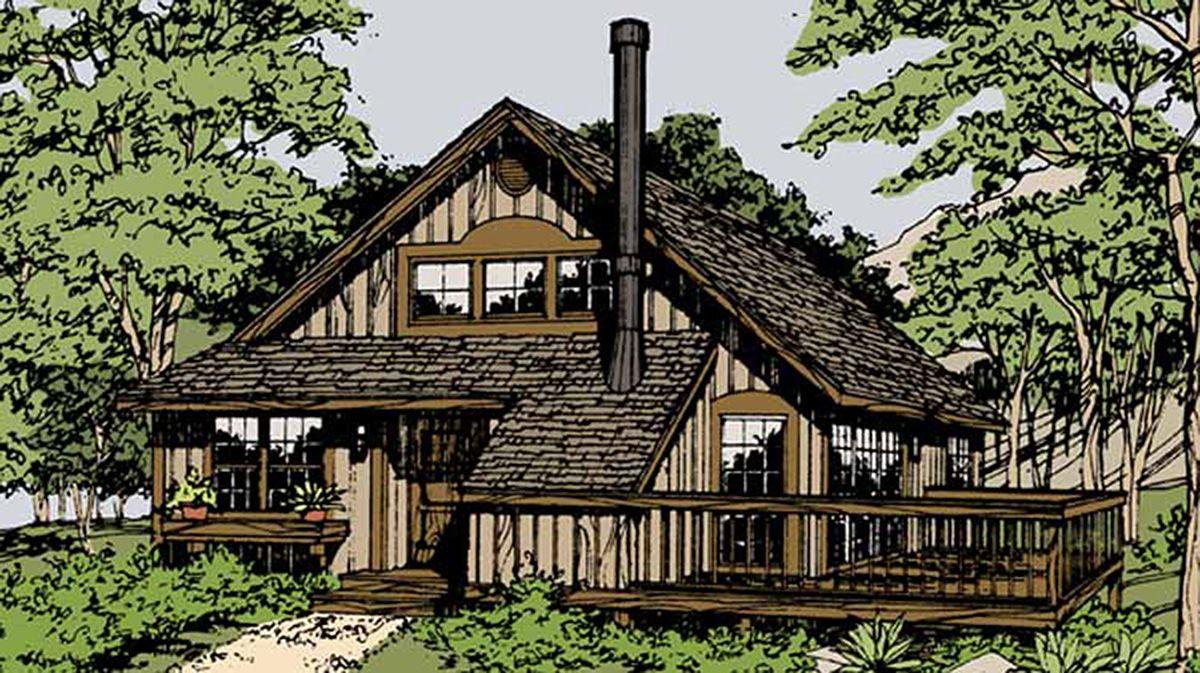 Plan 46100JB: Idyllic Mountain Hideaway | Casas pequeñas, Casas, 2° piso