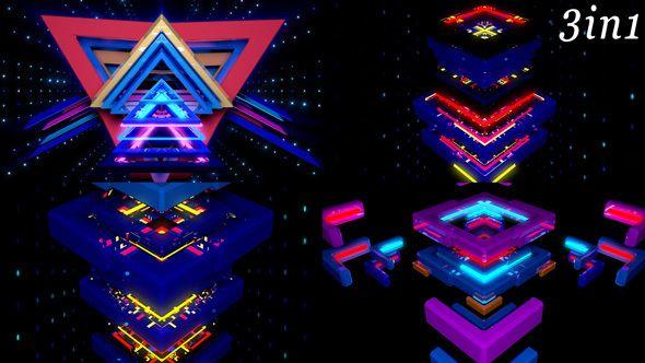 Glow Flow - VJ Loop Pack 3in1   Code Script   Music videos