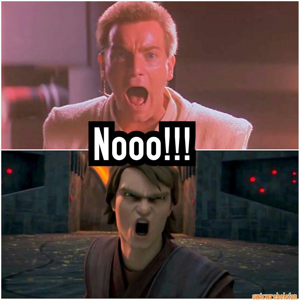 Nooo!!!! #themasterandtheapprentice #sameline #no #StarWars #PhantomMenace #SWTCW #ObiWan #EwanMcGregor #Anakin #MattLanter