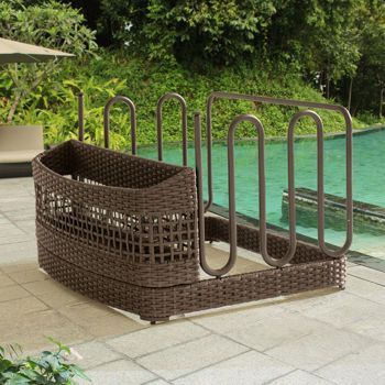 Float Caddy Holder Organizer Patio Furniture All Weather Pool Float Storage  Stand