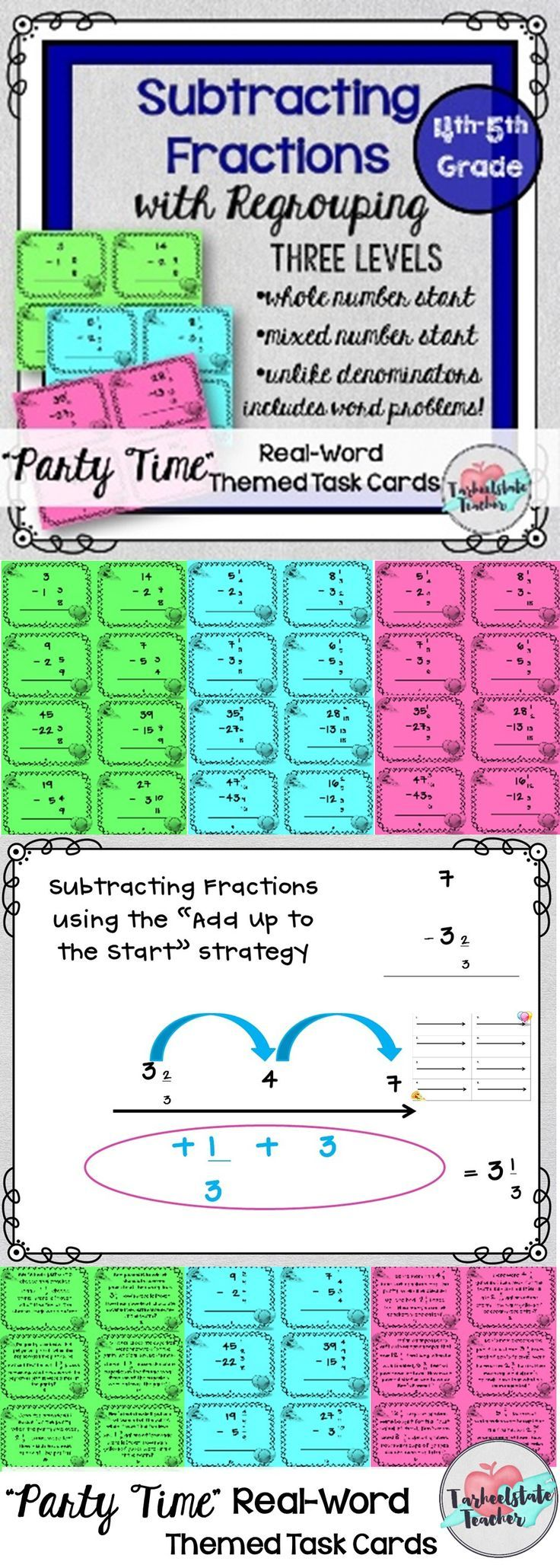 Subtracting Mixed Numbers with Regrouping | Fractions Word Problems ...