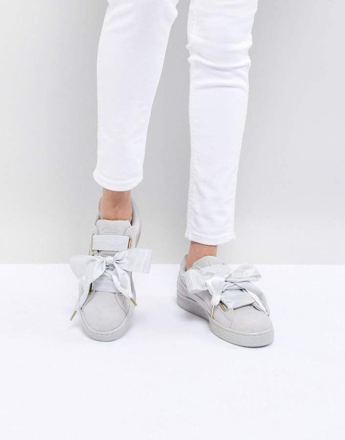78d1ad67f56 Puma Suede Heart Satin Sneaker