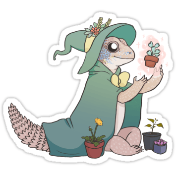 Lizard Wizard and Pirate Stickers