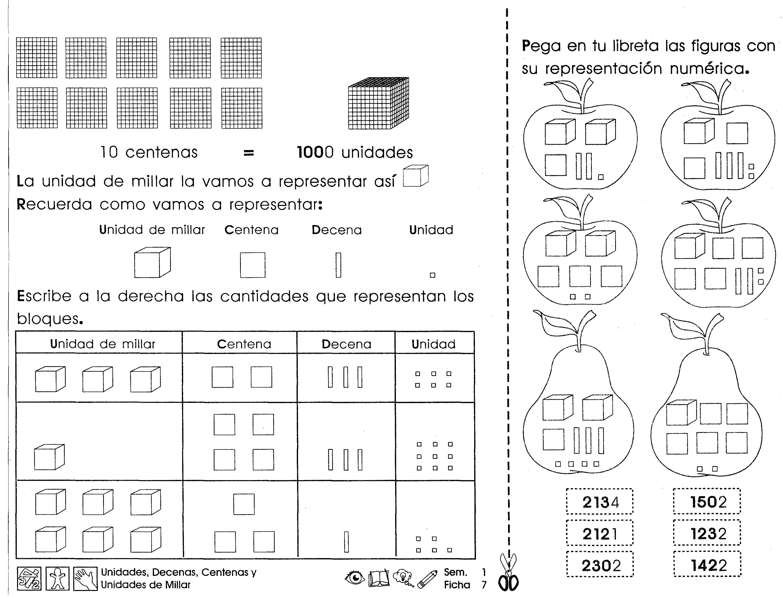 Ficha imprimible de repaso para 3er grado de matemáticas sobre ...