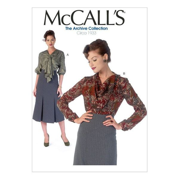 Vintage 1930\'s McCall\'s Sewing Pattern M7053 Misses\' Tops ...