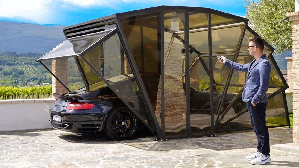 Gazebox Retractable Garage Enclosed Carport Carport Garage