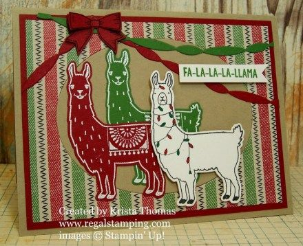 Christmas Llamas by Krista Thomas, www.regalstamping.com, all products by…