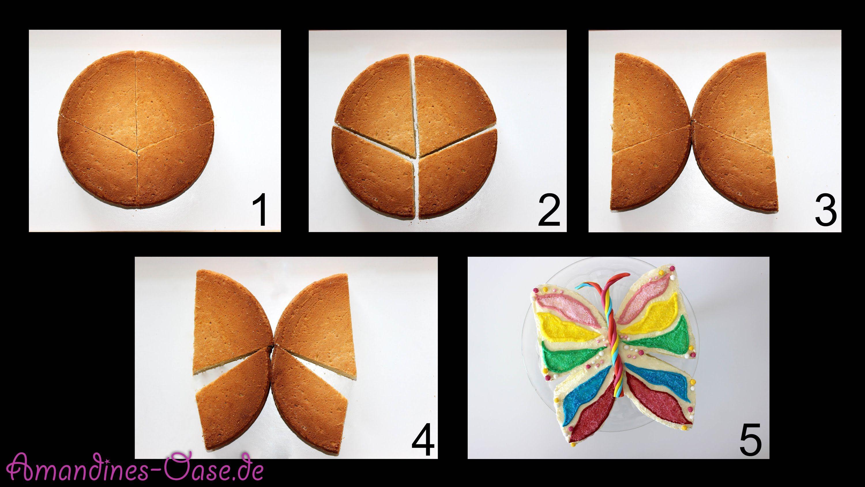 Schmetterling aus jedem runden Kuchen  Torte ohne extra