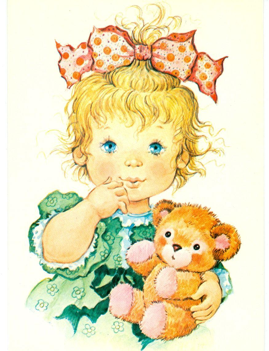 Красивые открытки с маленькими девочками, гости заходила наследила