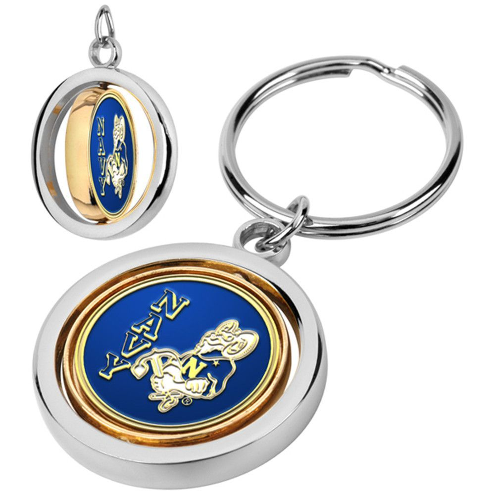 Navy Midshipmen NCAA Spinner Key Chain