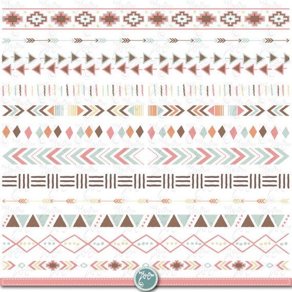 Seamless Aztec Borders Aztec Patterns Western Borders Etsy In 2021 Border Design Page Borders Design Colorful Borders Design