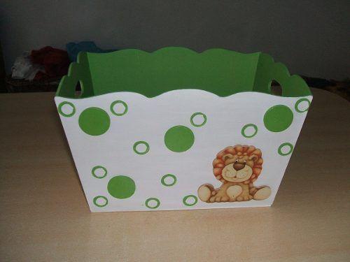 Baby shower caja de regalos en decoupage buscar con - Caja madera manualidades ...