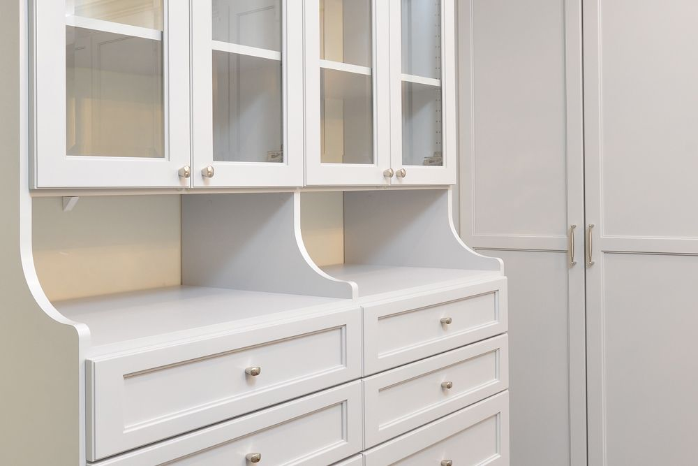Two Hutches Are Better Than One For Extra Custom Closet Storage: Combining  Two Folkstone Gray
