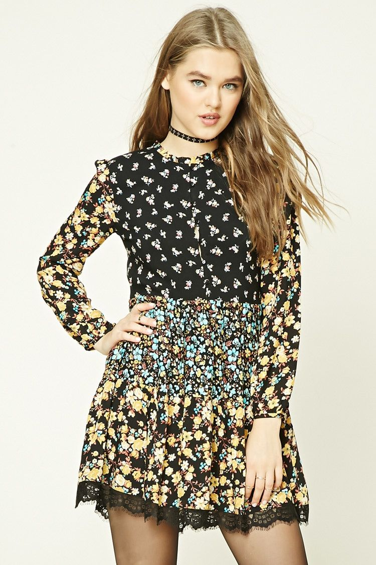 Floral print swing dress forever life style