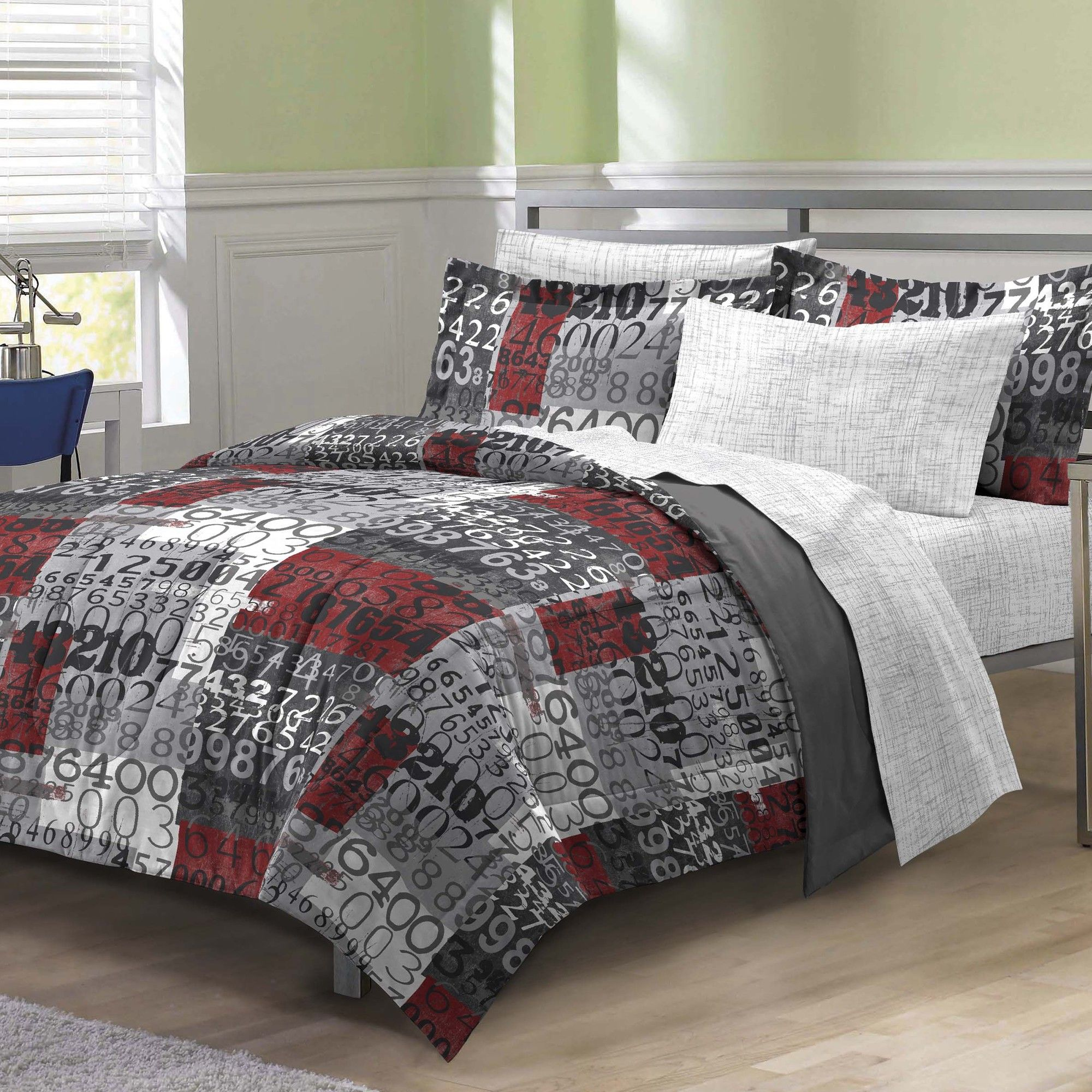 My Room Number Time Bed Set Wayfair Teen Boy Bedding