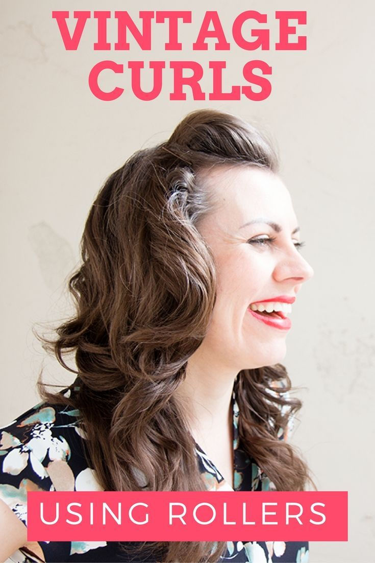 Vintage curls using vintage rollers tutorial mummy style fashion
