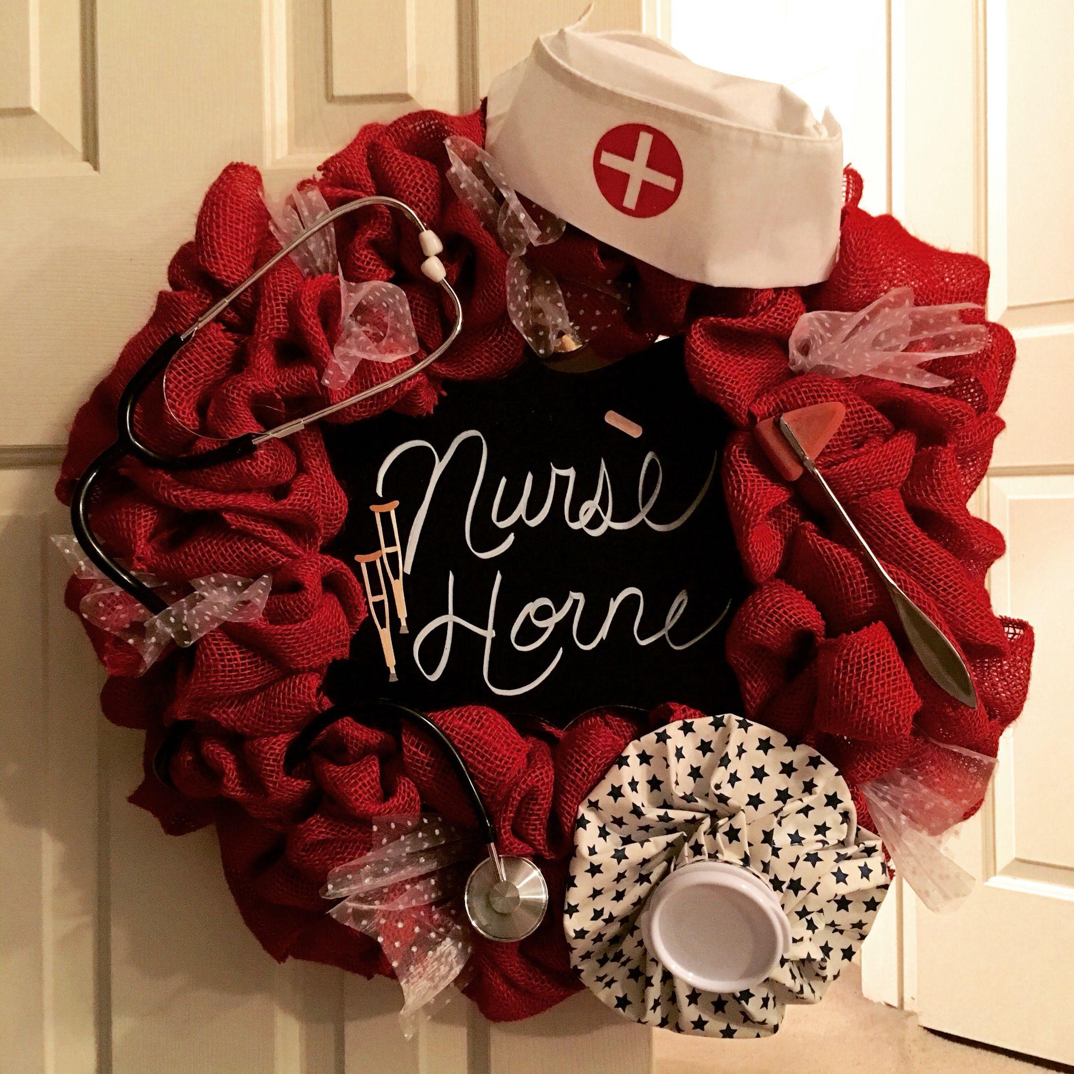 Made This For My School Nurse Wreaths Pinterest