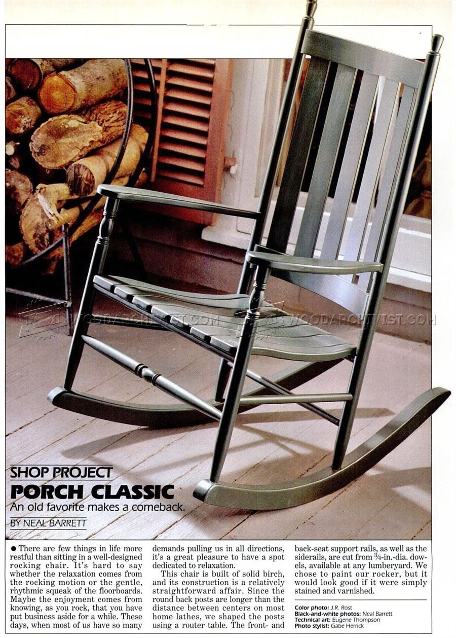 2477 Classic Rocking Chair Plans Furniture Plans Woodworking