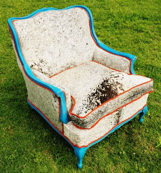 Dirt Cheap Home Decor: Cowhide Chair By Red Dirt Revivals In Southwest OK