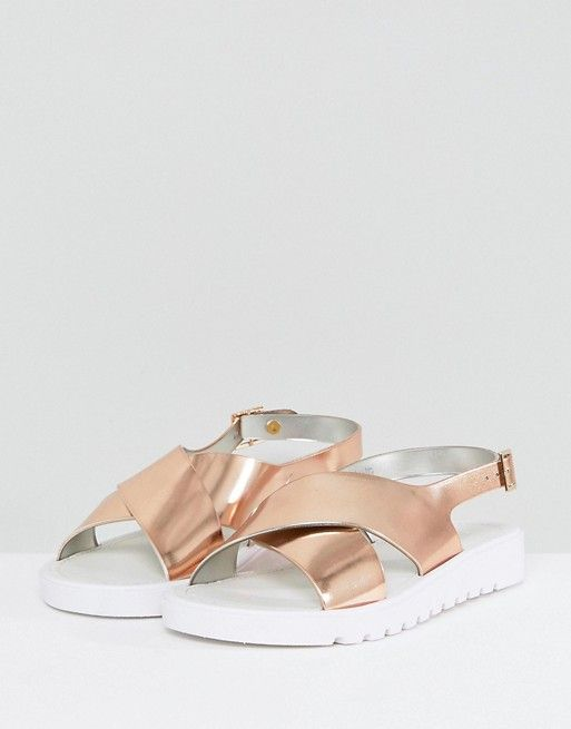 outlet marketable marketable cheap price FREQUENT Wide Fit Jelly Flat Sandals ost release dates sale free shipping outlet best prices IO0YVLp