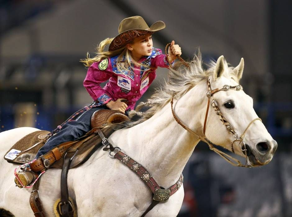 Thirtymilesout Chayni Chamberlain Age 9 Aboard Her Horse