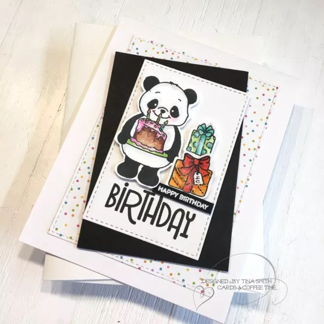 Simon Says Stamp – Party Like a Panda Card Kit – Aug 2019 | Cards and Coffee Time #cardkit