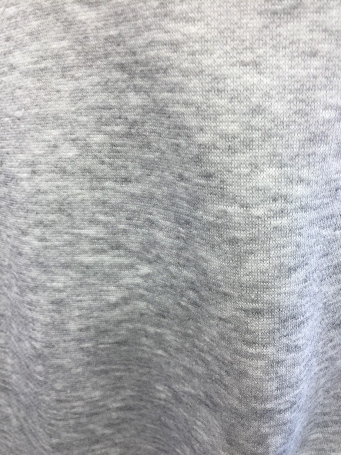 Poly Cotton Sweatshirt Fleece Fabric by the Yard (Heather Grey ...