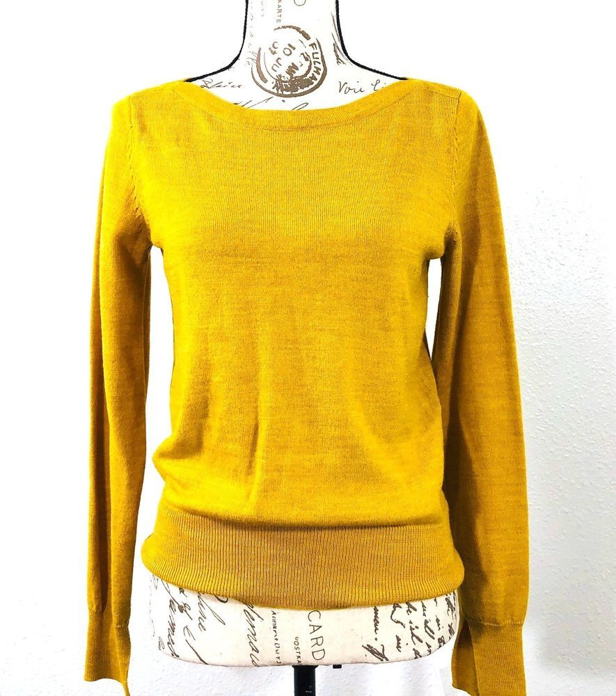 The Limited Mustard Yellow Wool Blend Womens Sweater Size Medium