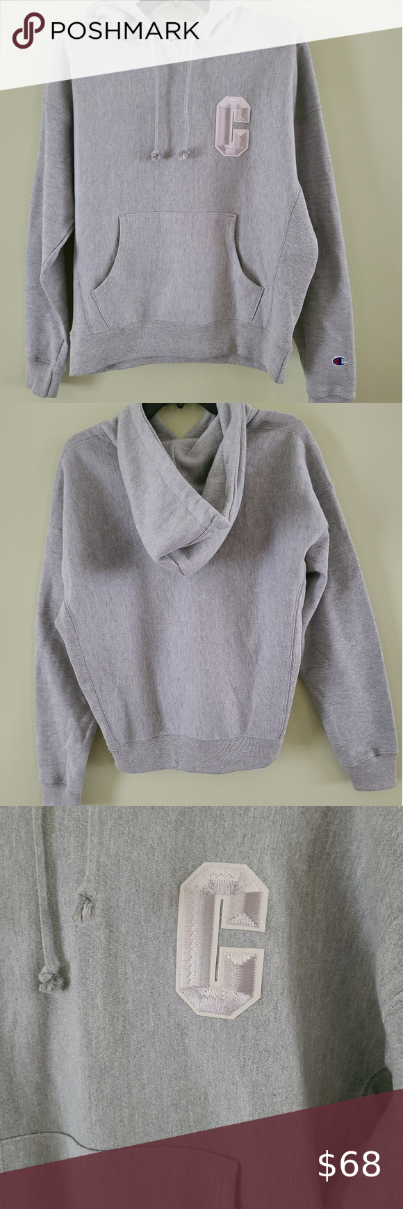 Champion Reverse Weave Hoodie Clothes Design Champion Reverse Weave Grey Champion Hoodie [ 1740 x 580 Pixel ]