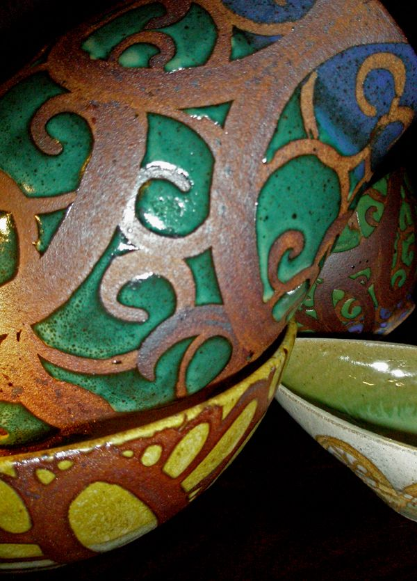 New pottery pieces by Liz Kinder (philadelphia)