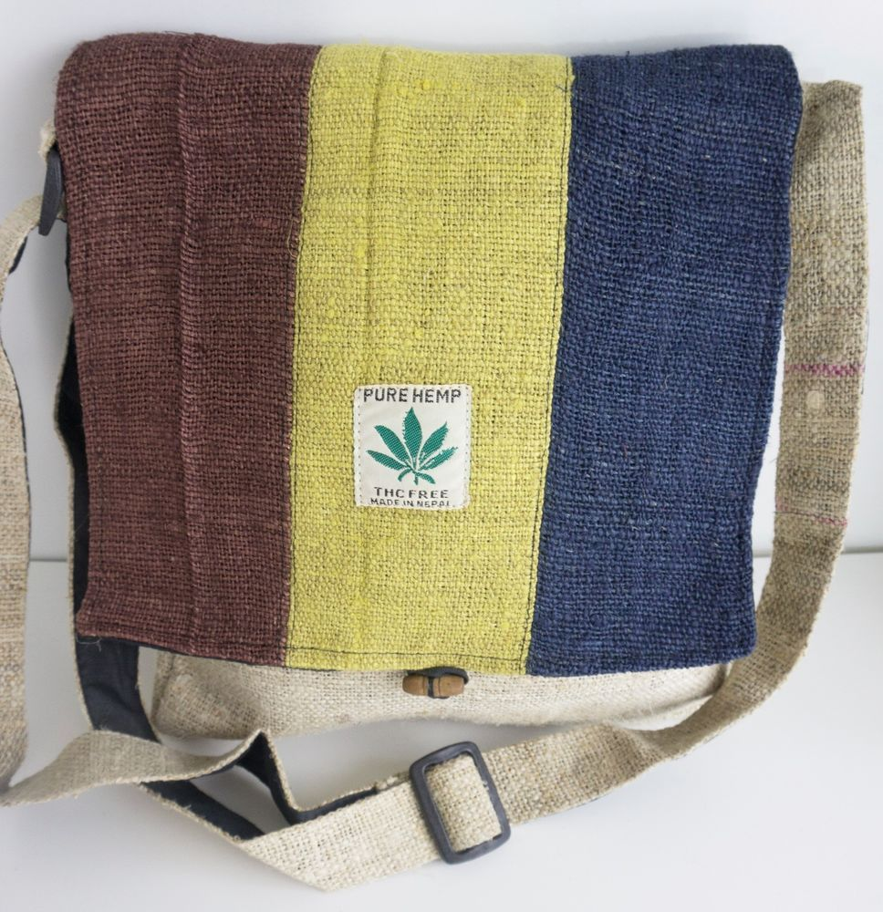 Hemp Messenger Bag #HempBag #MessengerShoulderBag