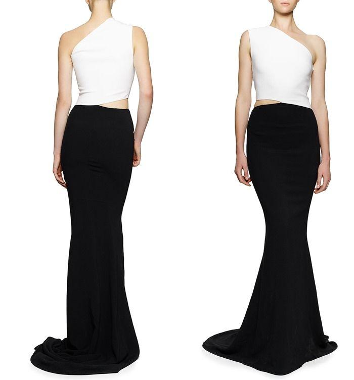 Sale Footlocker Outlet Purchase One-shoulder black dress Stella McCartney Classic Cheap Online Low Price Online fj8MB