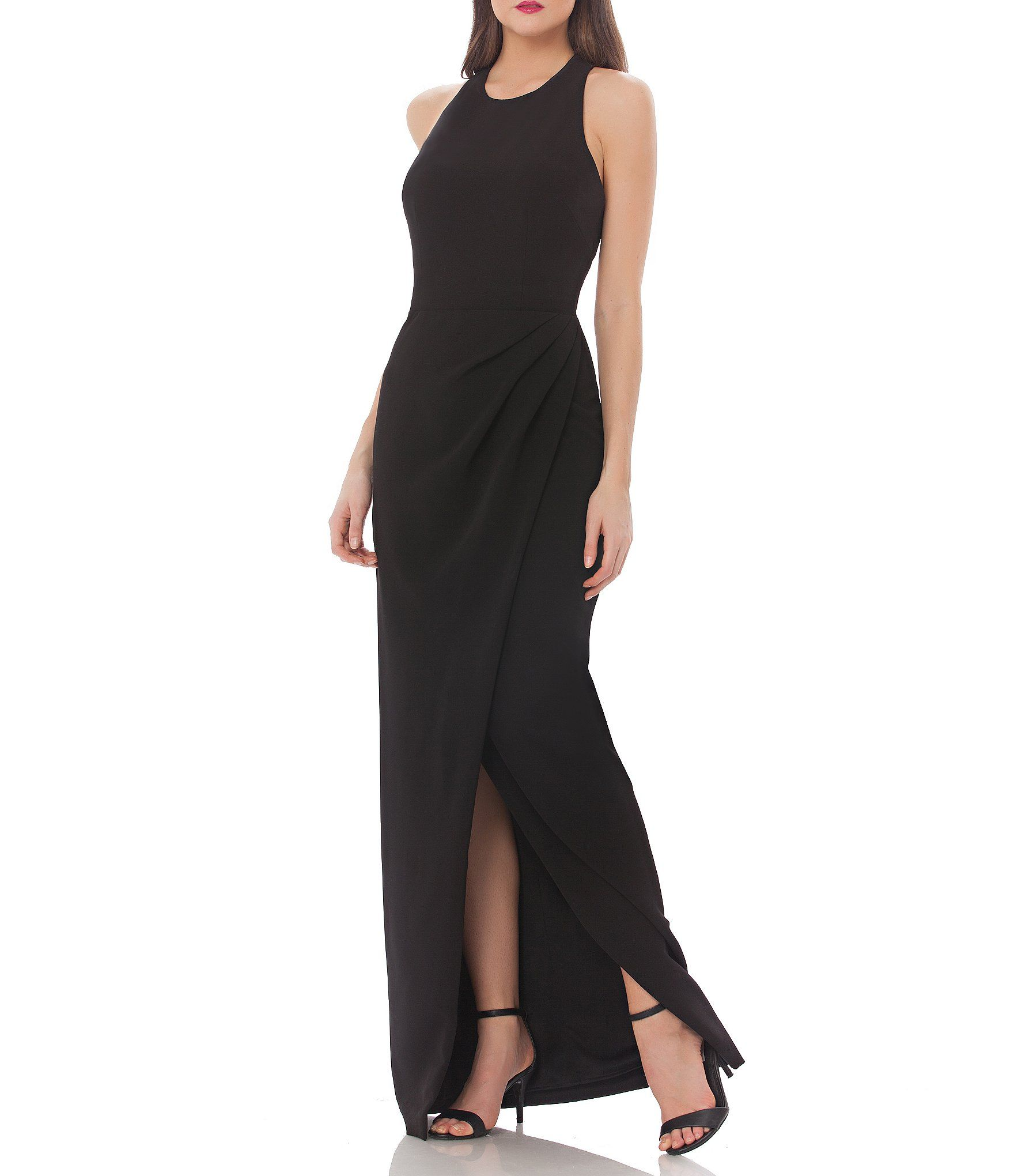 JS Collections Cut Out Back Crepe Gown | Dillards, Crepes and Gowns