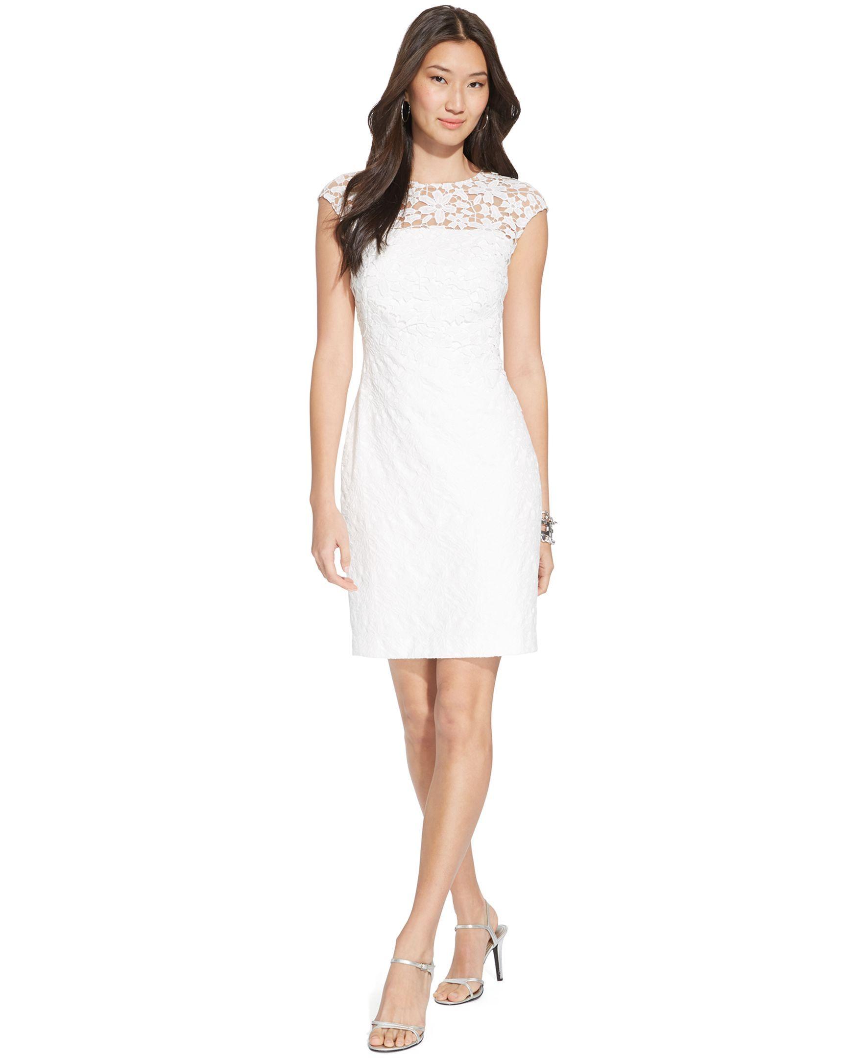 Lauren ralph lauren lace boatneck dress vestidos looks